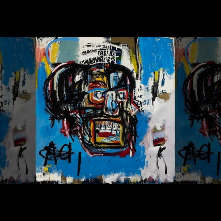 Jean-Michel Basquiat paintin